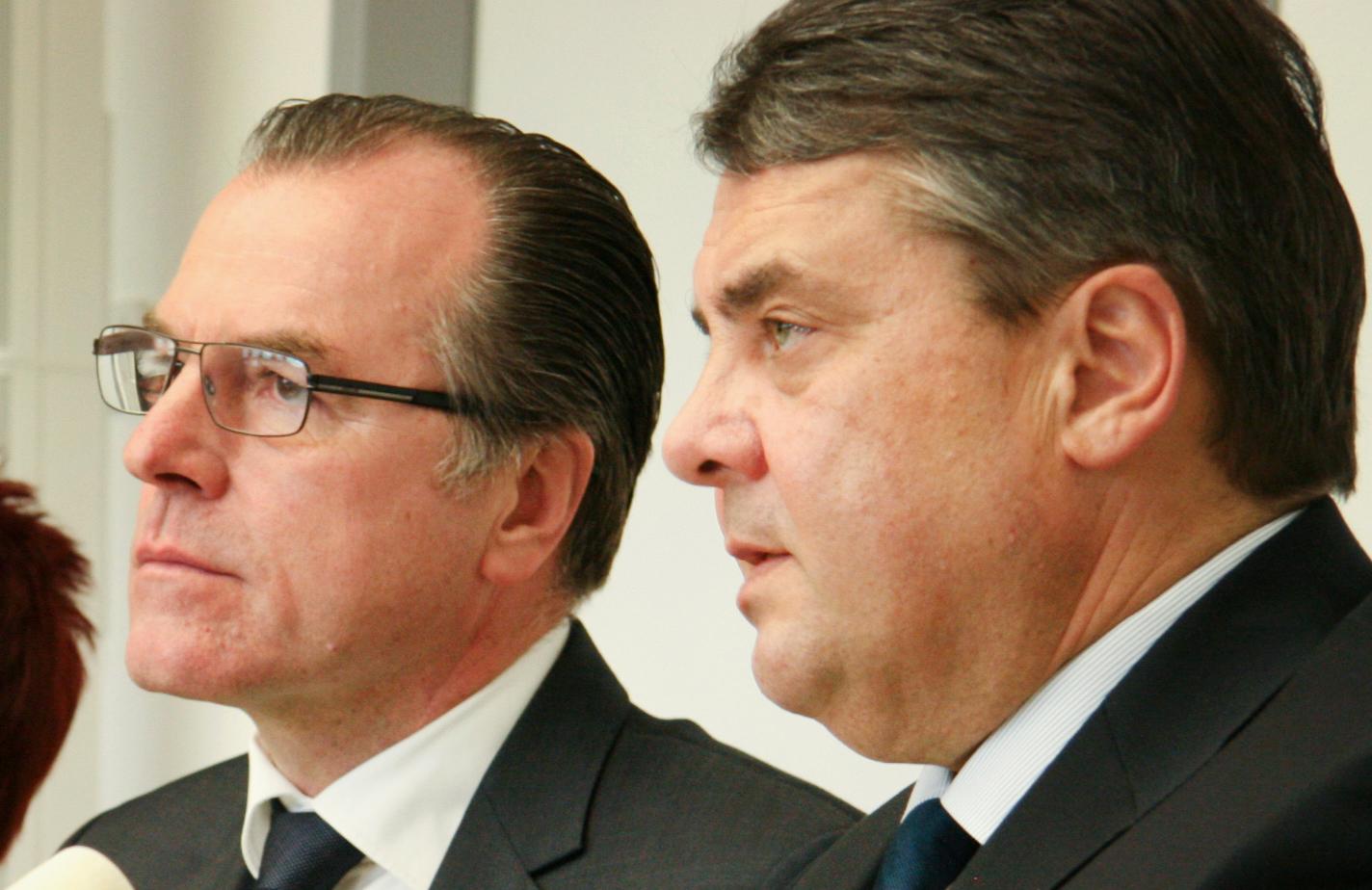 Clemens Tönnies und Sigmar Gabriel, Foto: Picture Alliance